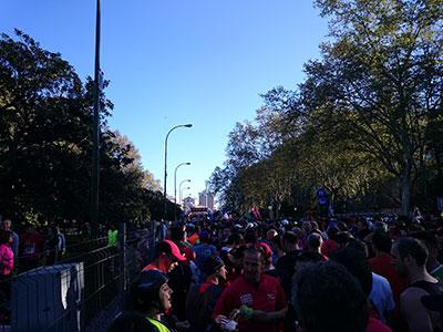 старт марафона на бульваре
