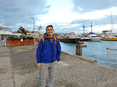 Гавань в Пафосе, где выставка и зона финиша